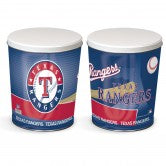 Load image into Gallery viewer, Texas Rangers 3 gallon popcorn tin