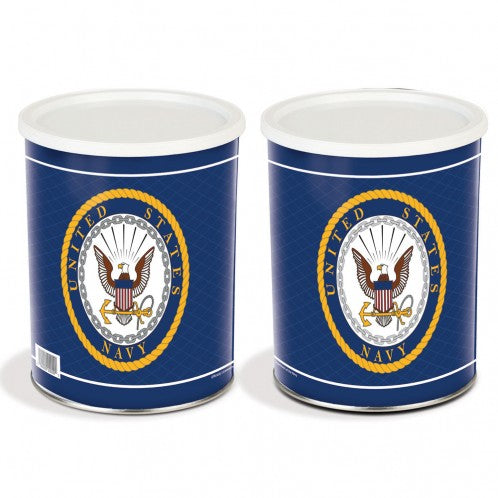 US Navy 1 Gallon Popcorn Tin