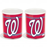 Washington Nationals 1 Gallon Popcorn Tin