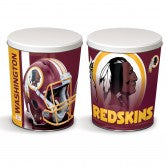 Washington Redskins 1 gallon popcorn tin