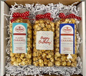 Happy Birthday Gourmet Popcorn Gift Box