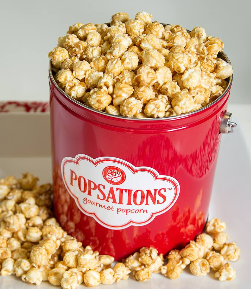 Popsations Red Tin Caramel Popcorn