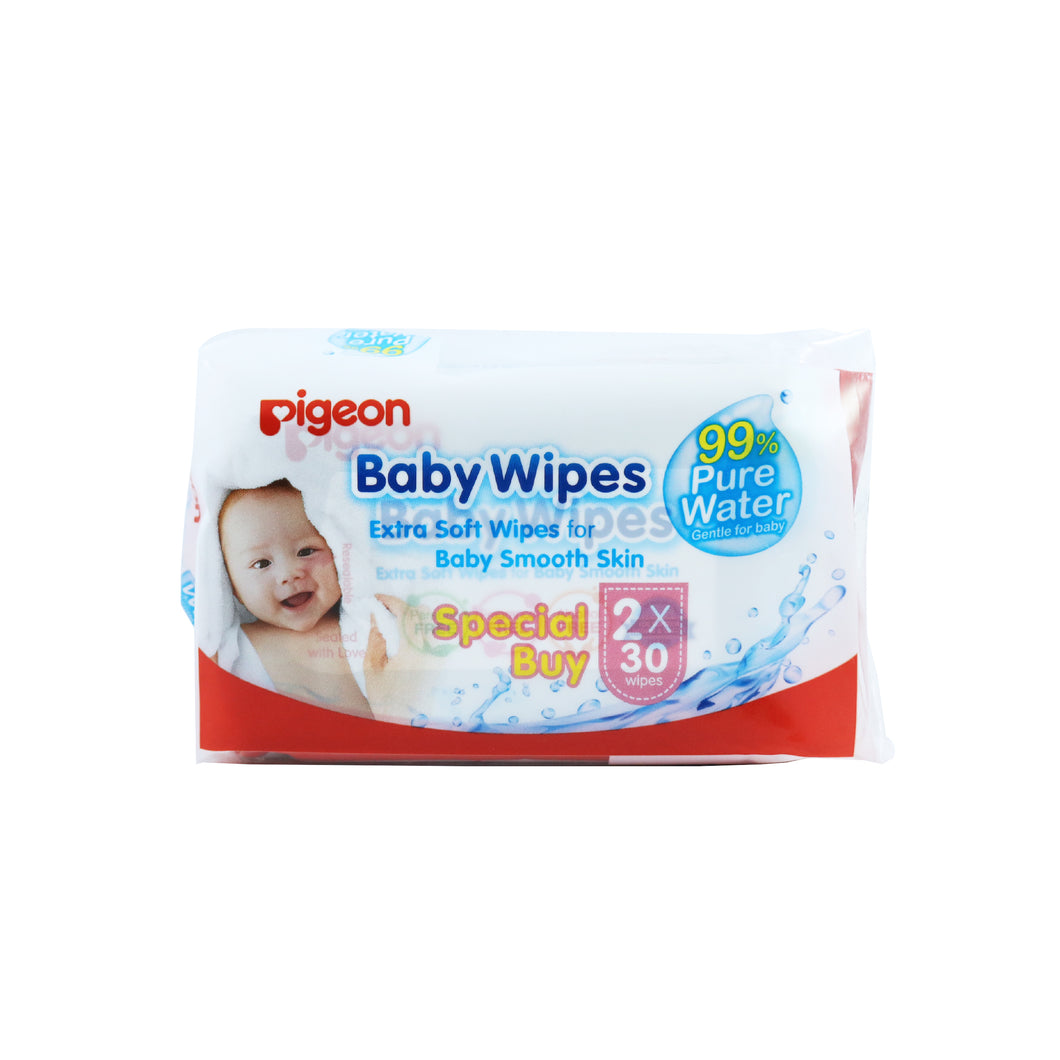 Baby Wipes (30 toallitas x 2)  Water Base- Pigeon