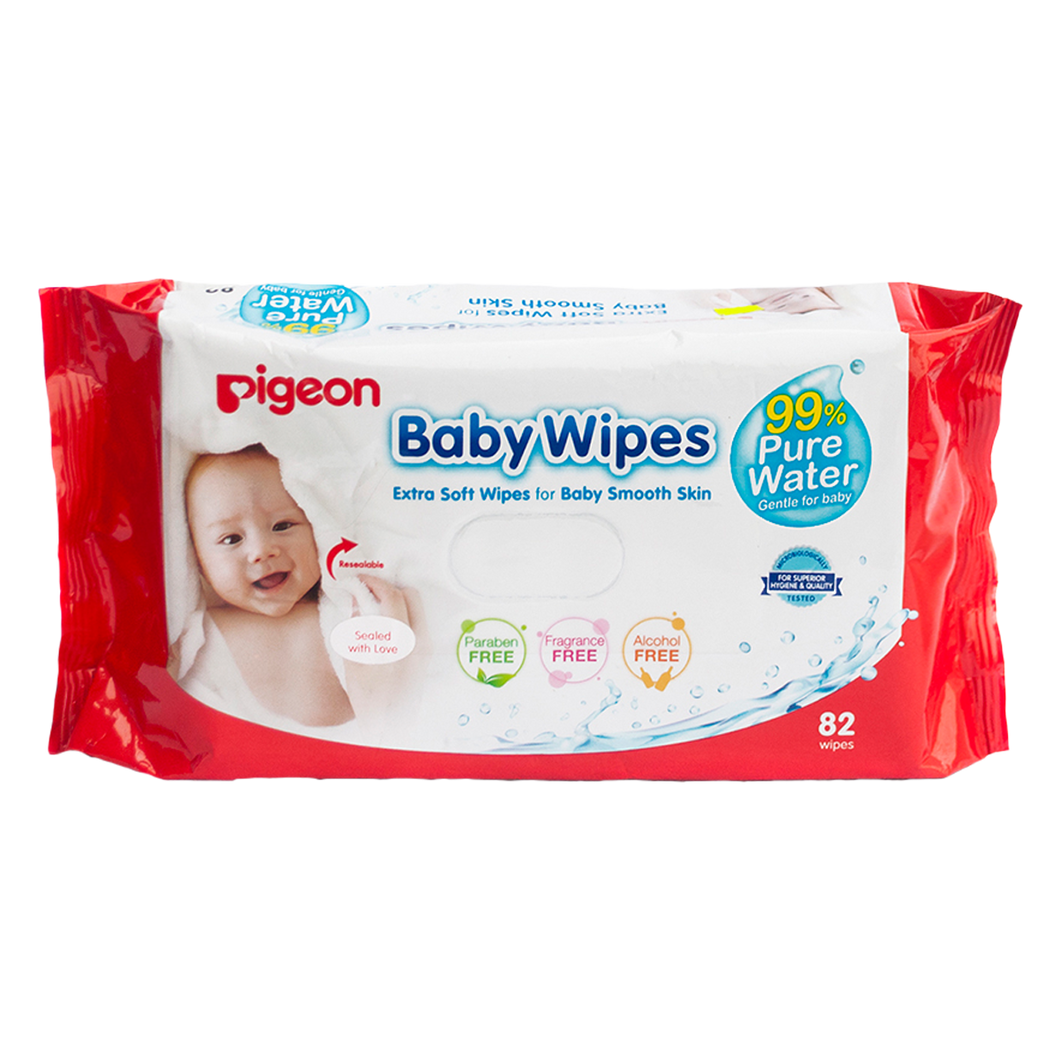 Baby Wipes (82 toallitas) Water Base - Pigeon