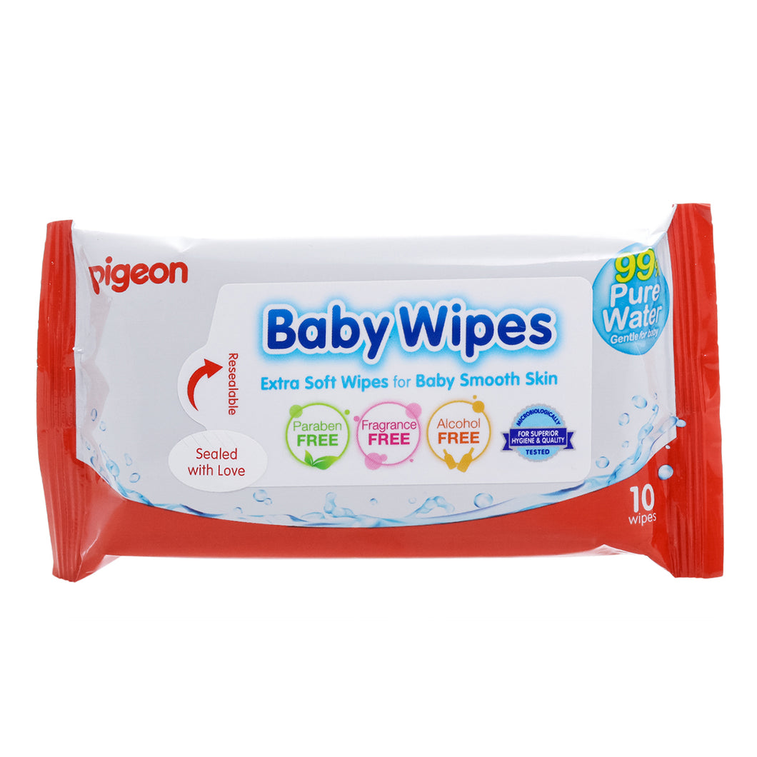 Baby Wipes (10 toallitas)  Water Base - Pigeon