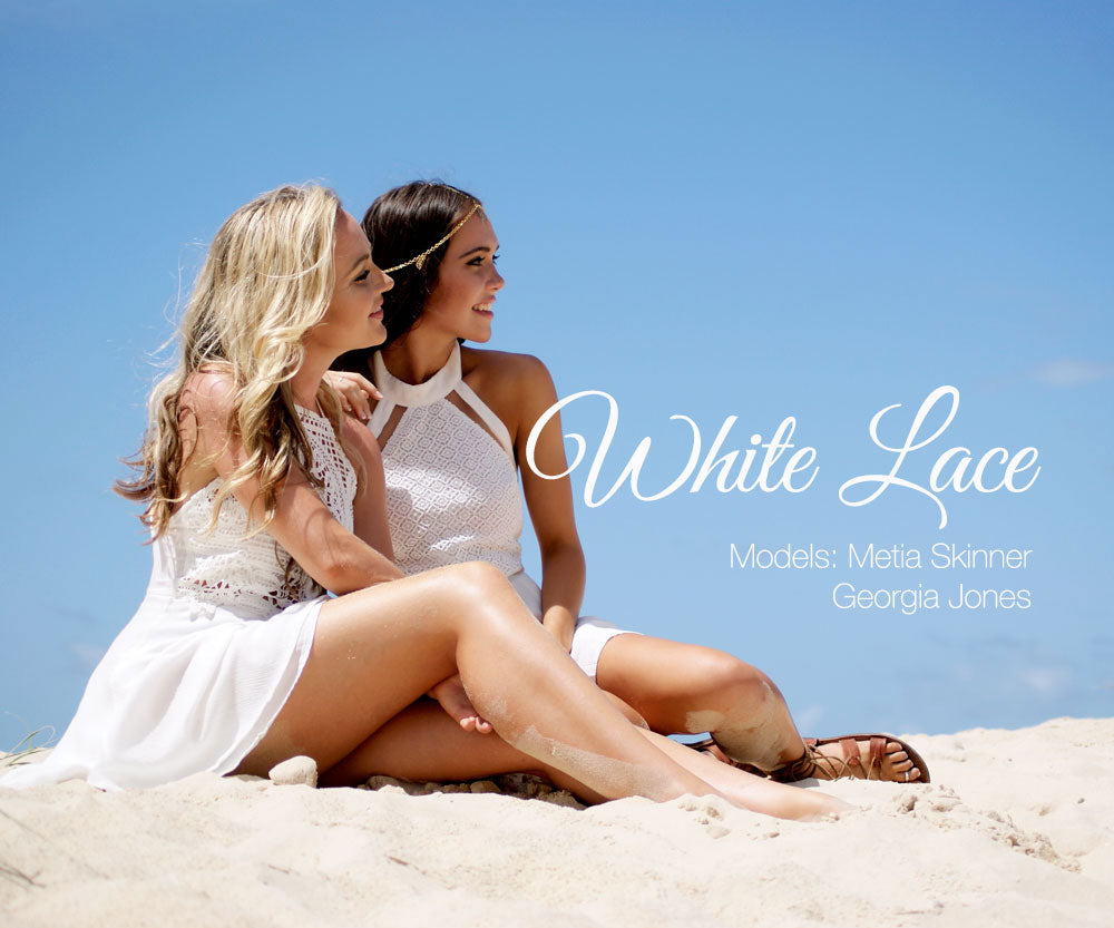White Lace Lookbook Cover Photo