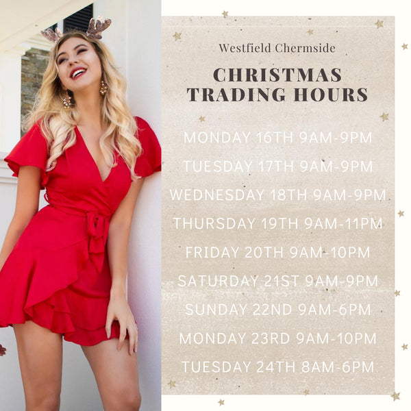 Christmas 2019 Extended Trading Times
