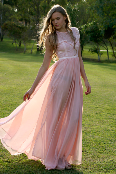 Elie Blush Pink Cocktail Gown