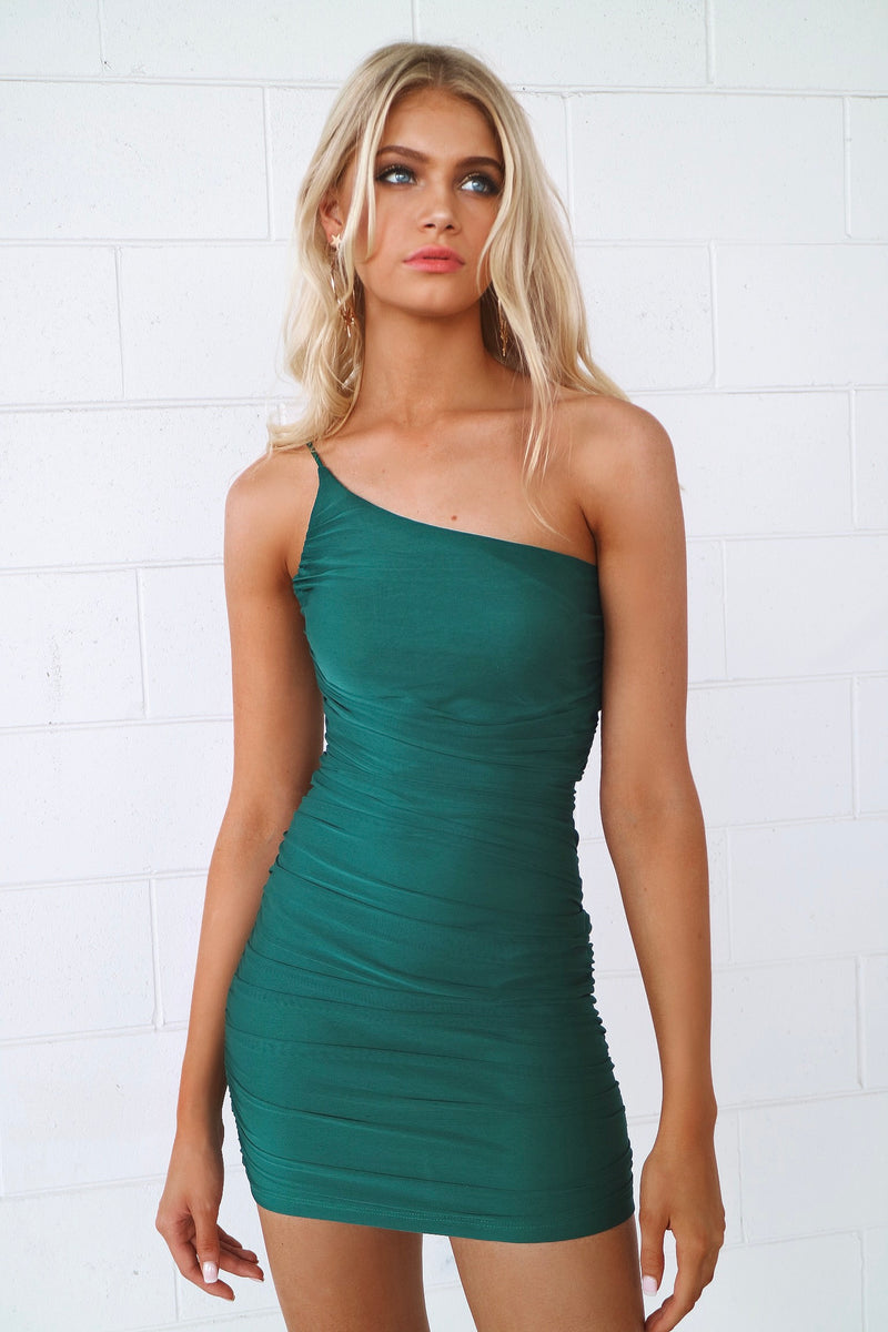 Adrianna Mesh Bodycon - Emerald Green - Runway Goddess