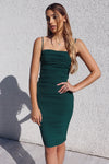 Alexia Bodycon Midi Dress - Emerald