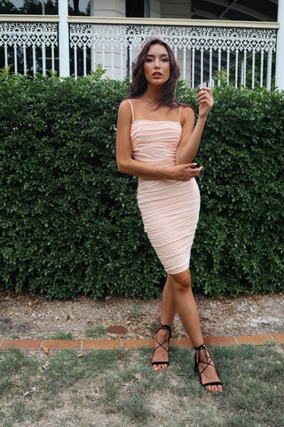 Alexia Bodycon Dress Salmon Pink