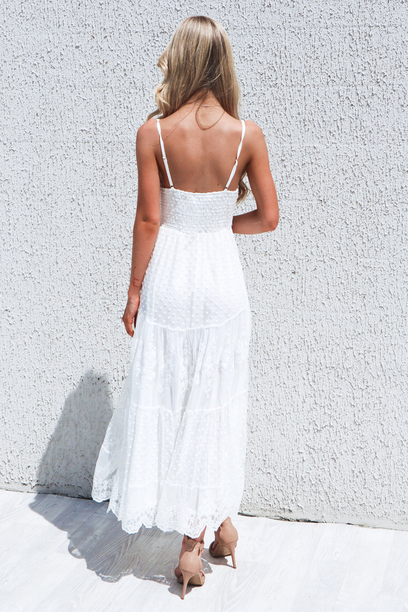 Allora Lace Boho Midi Dress