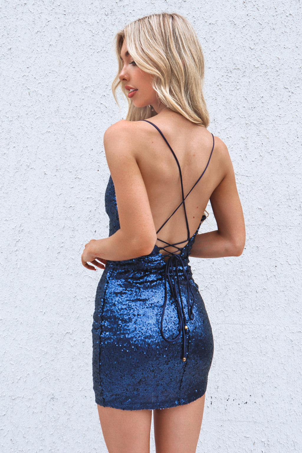 Ambrosia Sequin Dress - Navy