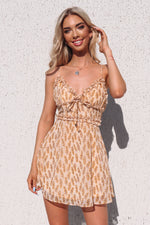 Amora Floral Dress - Mustard - Runway Goddess