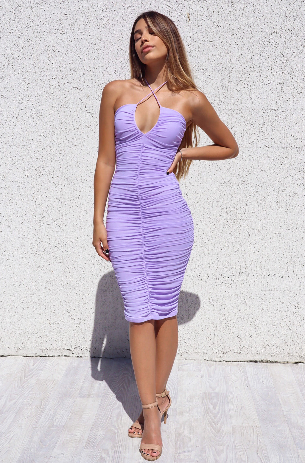 Ashlyn Mesh Dress - Lilac