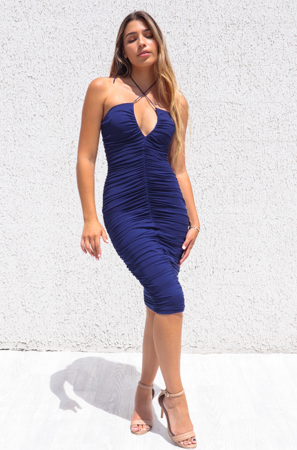 Ashlyn Mesh Dress - Navy