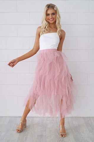 Valentine Blush Tulle Skirt