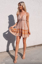 Bondi Dress - Tangerine Print - Runway Goddess