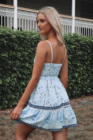Bondi Dress - Lagoon Print