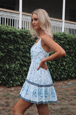 Bondi Dress - Blue Lagoon Print - Runway Goddess
