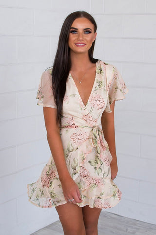 Bouquet Floral Butterfly Dress