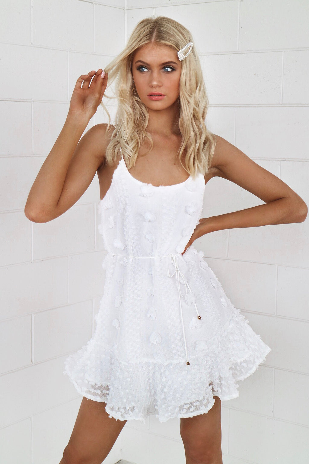 Byron Summer Dress - White - Runway Goddess