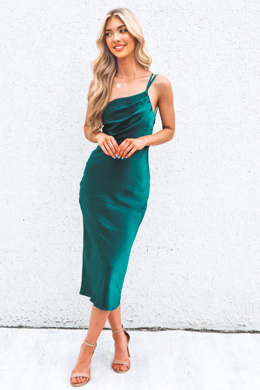 Chantelle Satin Midi - Green