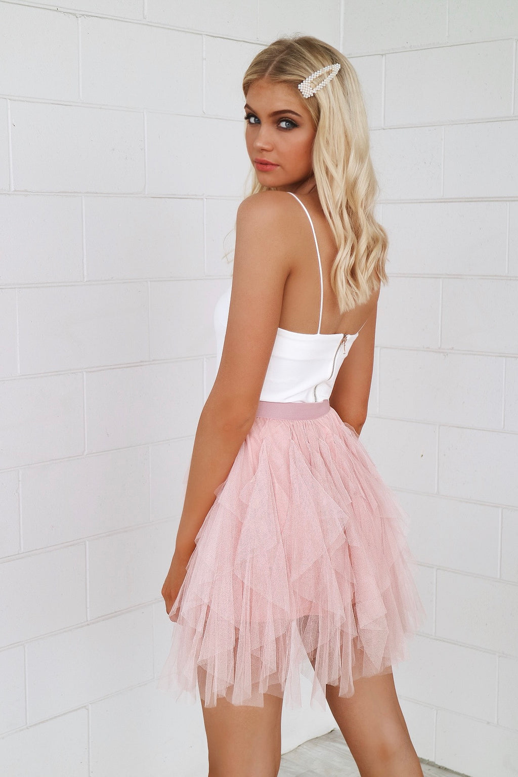 Cupid Tulle Skirt - Blush - Runway Goddess