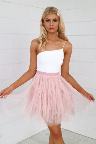 Cupid Pink Tulle Skirt