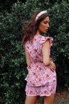 Dahlia Pink Floral Dress - Runway Goddess