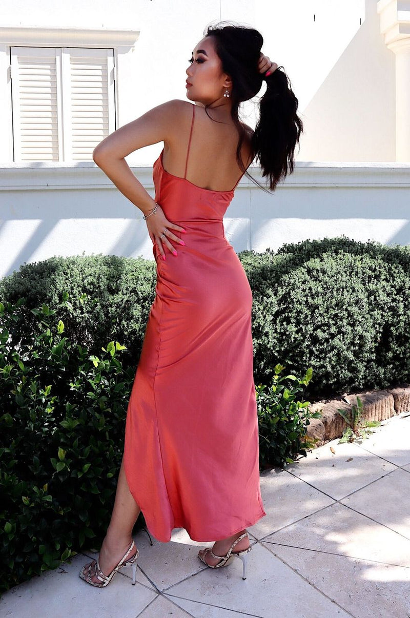 Eclipse Formal Gown - Salmon Pink - Runway Goddess