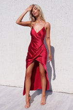 Eclipse Formal Gown - Cherry Red - Runway Goddess