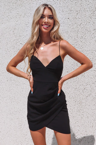 Elena Black Bodycon Dress