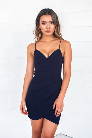 Elena Navy Bodycon Dress