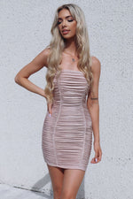 Estelle Glitter Dress - Runway Goddess