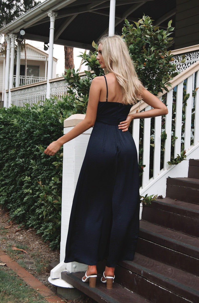 Evelyn Jumpsuit - Navy - Runway Goddess