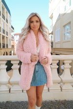 Fairy Floss Pink Coat - Runway Goddess
