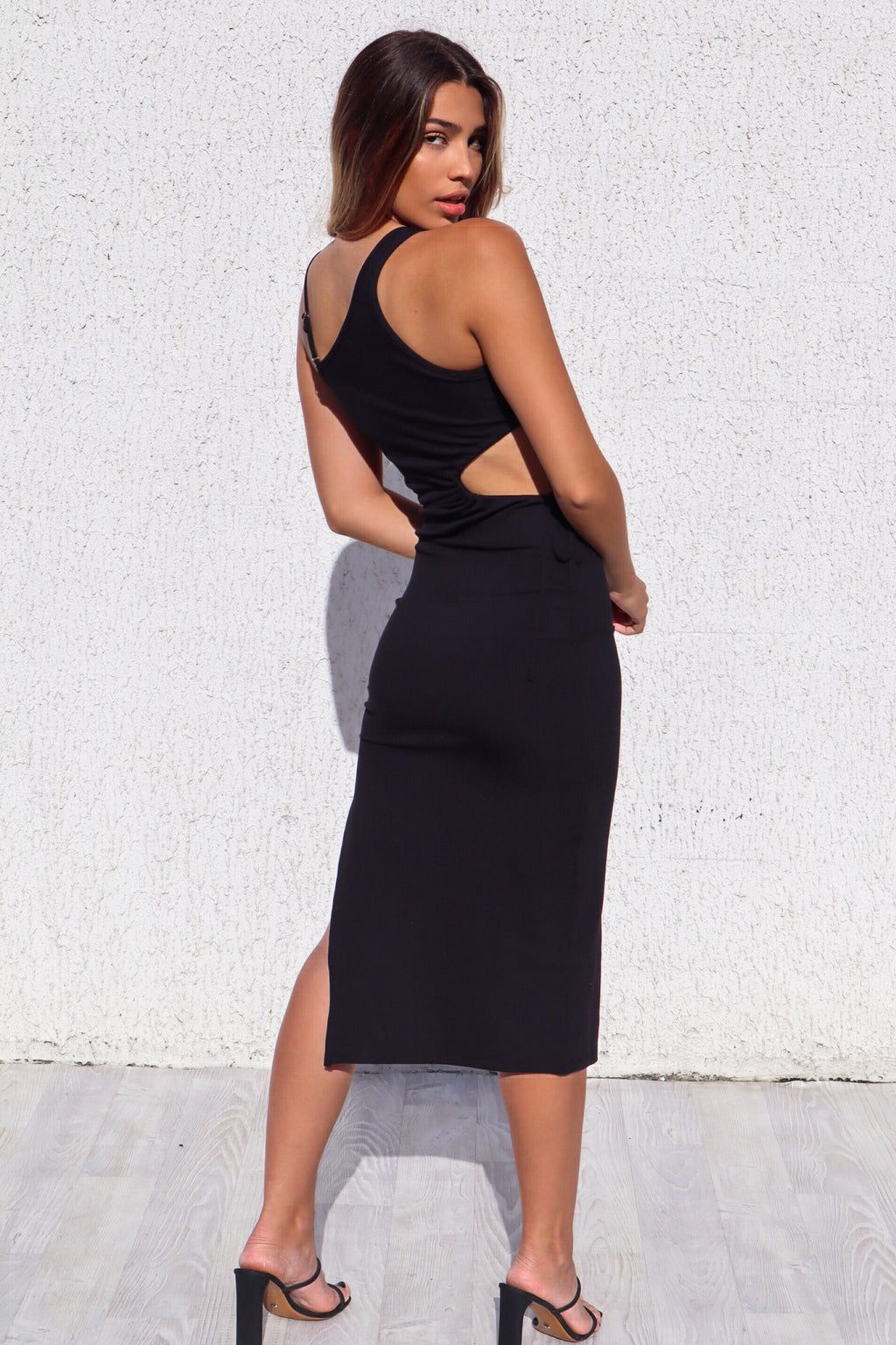 Felice Ribbed Midi - Black