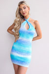 Fiona Dress - Blue