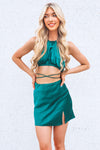 Freesia Satin Set - Green