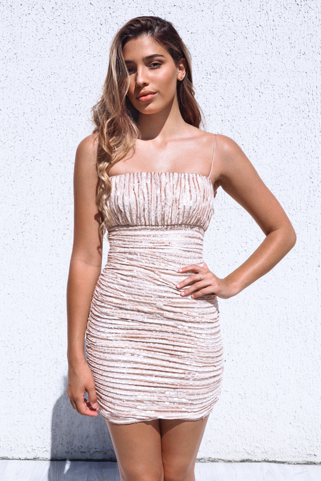 Geneva Sequin Dress - Gold