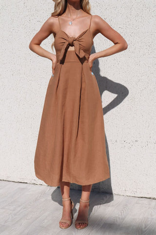 Grace Tan Maxi Dress