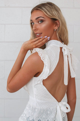 Hamilton White Lace Top