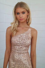 Heidi Sequin Dress - Gold - Runway Goddess