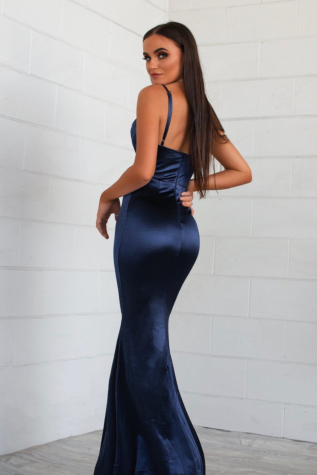 Hollywood Formal Gown - Navy - Runway Goddess