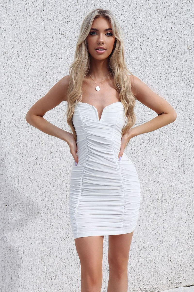 Jolie Dress - White - Runway Goddess