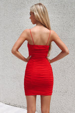 Jolie Dress - Red - Runway Goddess