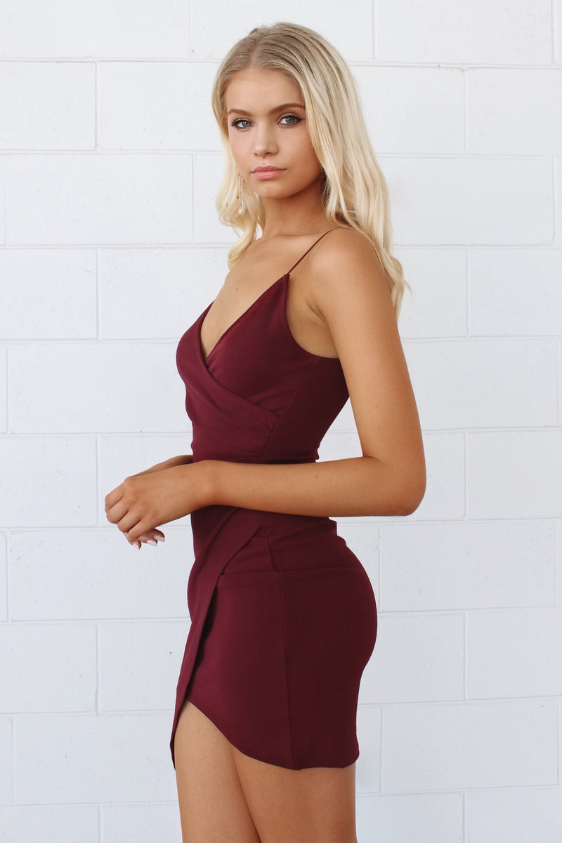 Jordyn Bodycon Dress - Plum - Runway Goddess