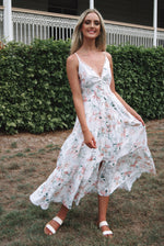 Kahula White Floral Maxi Dress - Runway Goddess