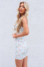 Kaya Mesh Dress - White Floral